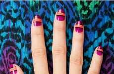 Geometric Colorful Manicures #DIY #Christmas #projects