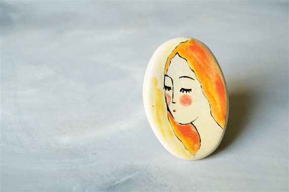 RingCeramic Jewelry Ceramic Ring by HerMoments on Etsy