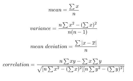 probability and statistics formulas pdf