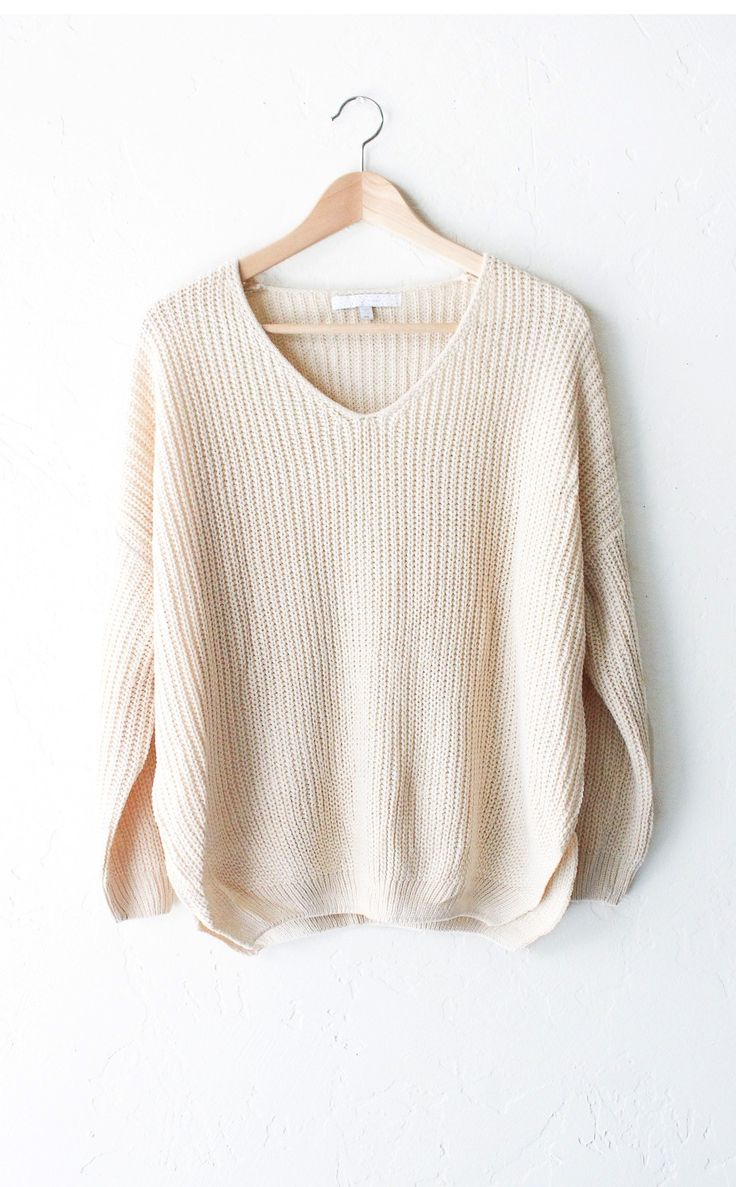 - Description Details: Super soft & comfy, relaxed fit knit v-neck sweater…