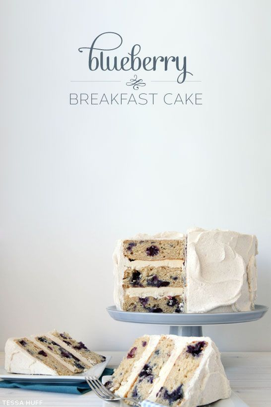 Blueberry Breakfast Cake with cinnamon maple syrup frosting...
