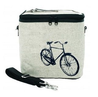 So Young Large Cooler Bag Grey Bicycle Why should kids have all the fun? Use it as a bottle bag for baby, pack your child's drinks and snacks in it, or leave the kids at home and take your lunch with you wherever you go. Need an extra hand? These versatile bags can be worn in either messenger or backpack style. $44.95 #sweetcreations #baby #nursery #kids #newparents #parenting