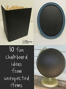 The really great thing about chalkboard paint is that it comes in so many forms these days.  There is something for everyone.  You can get black chalkboard paint, or old school green chalkboard paint,...
