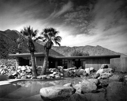 Edris House, E. Stewart Williams, Palm Springs, California, 1953 — Julius Shulman