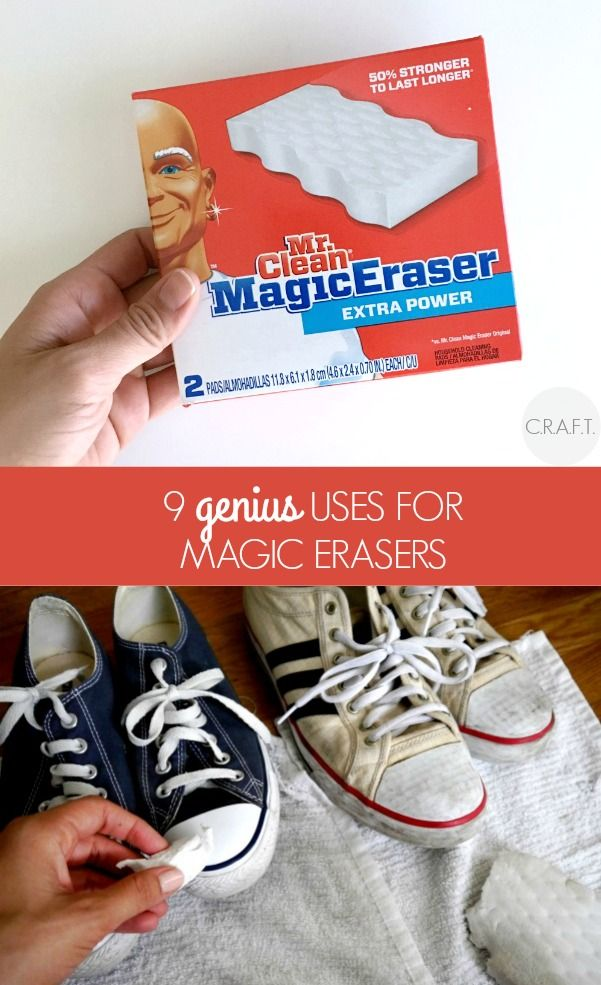 9 clever uses for a magic eraser! (including the inside of plastic coolers!)