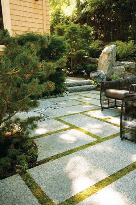 15 best Grass \ slabs images on Pinterest Garden paths, Decks - moderne fliesenspiegel küche