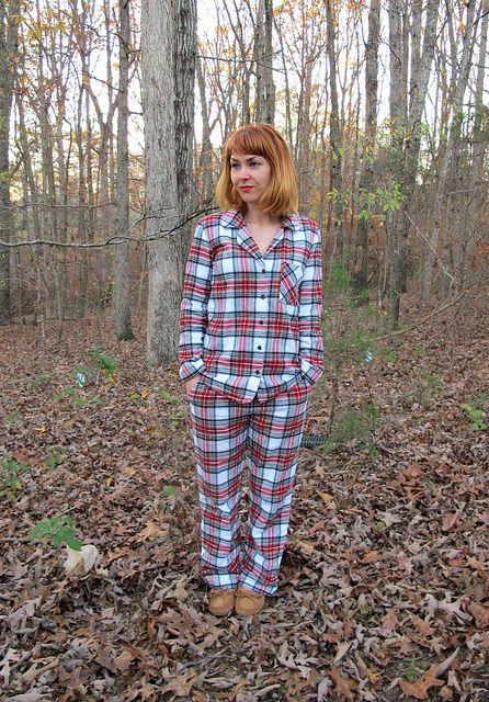 Lladybird: Plaid Flannel Carolyn Pajamas