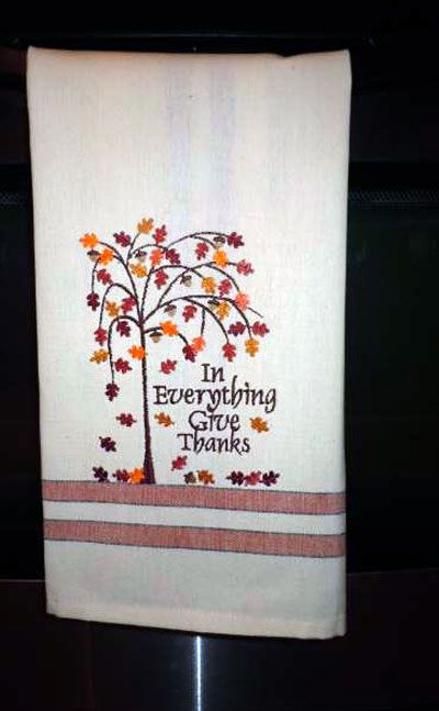 Thanksgiving kitchen towel