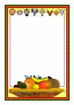 Handa's Surprise A4 page borders (SB4508) - SparkleBox