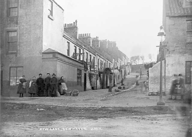 Newhaven Streets  -  New Lane  -  Photograph taken before 1896