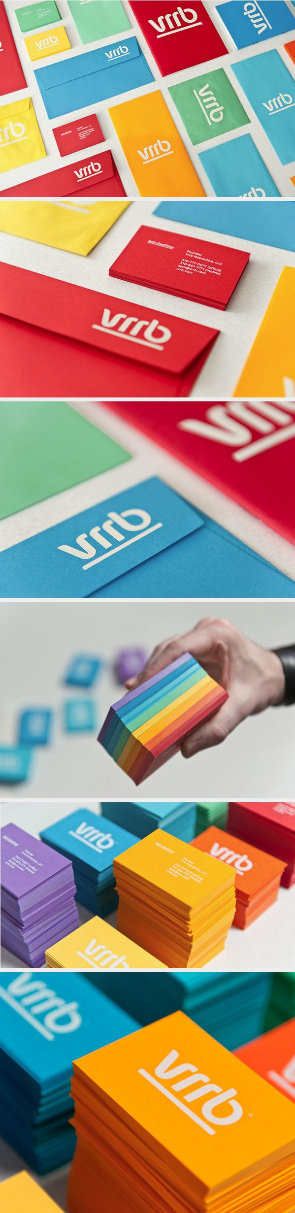 These #businesscards will catch your attention by having bright colors.