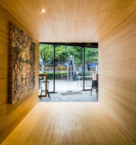 3Gatti stacks bamboo blocks to shape Shanghai's Alter Cube store interior - News - Frameweb