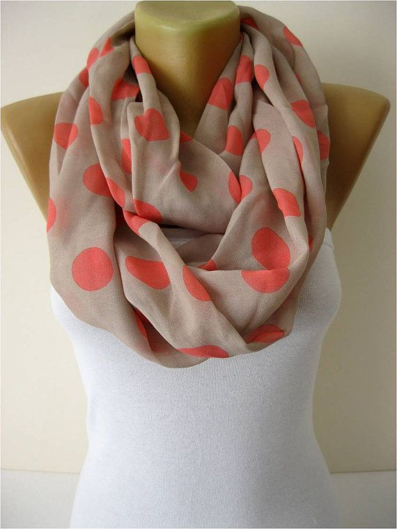 NEW Infinity Scarf Shawl Circle Scarf Loop Scarf by MebaDesign