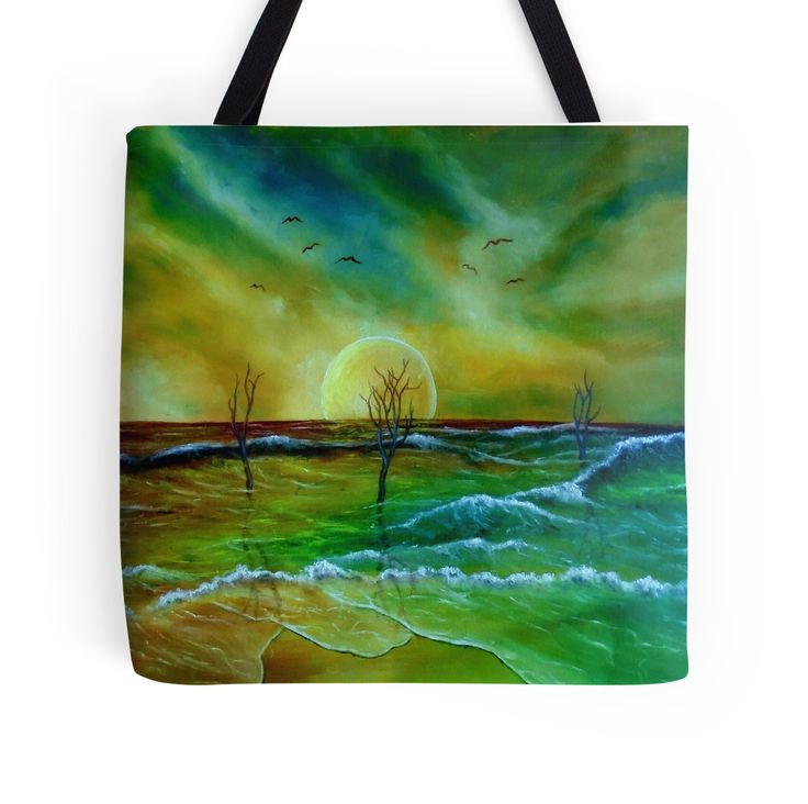 Tote Bag,   coastal,sea,waves,sky,nature,green,blue,colorful,impressive,cool,beautiful,unique,trendy,artistic,unusual,accessories,for sale,design,items,products,gifts,presents,ideas,redbubble
