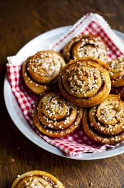 swedish cinnamon buns for breakfast.