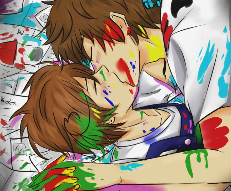 spamano kiss - Google Search<--- Lovino is just as unique as any painting. There are so many beautiful things about him I wished everyone knew<<<aww
