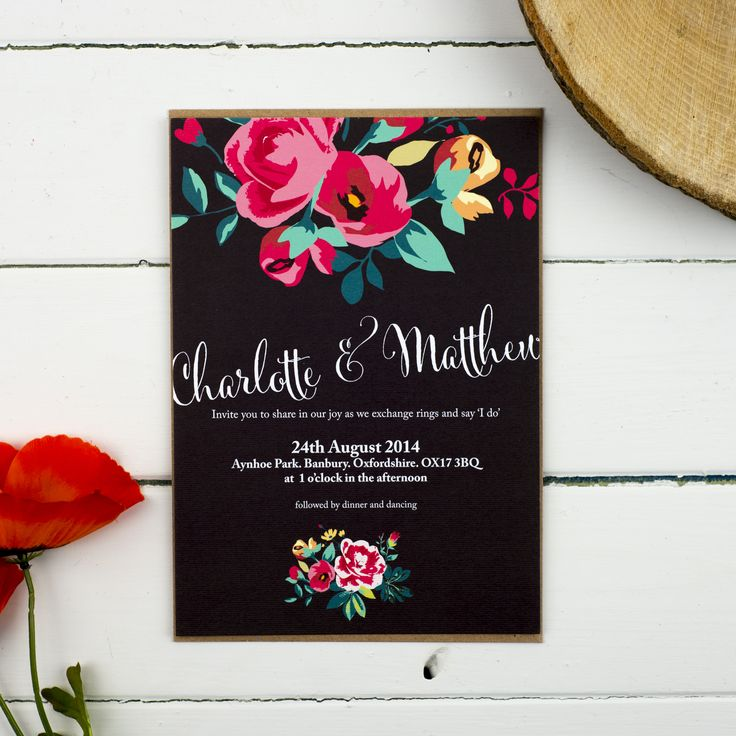 Floral Country Garden Wedding Invitation Suite By Russet Gray I Personalised Stationery Colourful