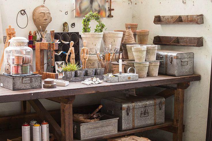 Nos gusta la combinación de macetas de #terracotta y #zinc #estilonordico #affari