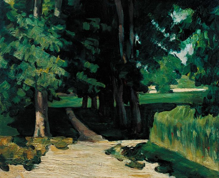 Post-Impressionist painting that influence Duchamp's early work.Paul Cézanne 'The Avenue at the Jas de Bouffan', c.1874–5