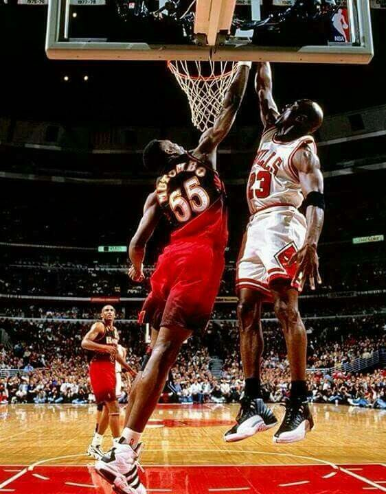 Dikembe Mutombo likes to say that he was late rotating over to the GOAT before getting dunked on, and in his mind he didn't really get dunked on. My video and poster shows different Dikembe lol.