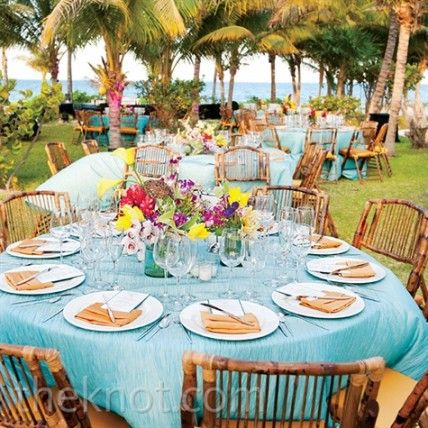 Pretty tropical table settings & 75 best Tropical tables images on Pinterest   Tropical weddings ...