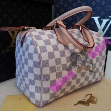 Купить сумку Louis Vuitton (луи виттон) Speedy Damier Azur 25, цена, интернет…