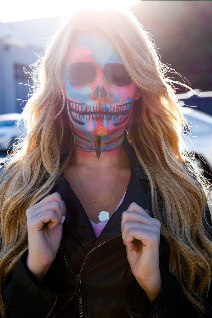 Proof That Skeleton Makeup Doesn't Have to Be Black and White