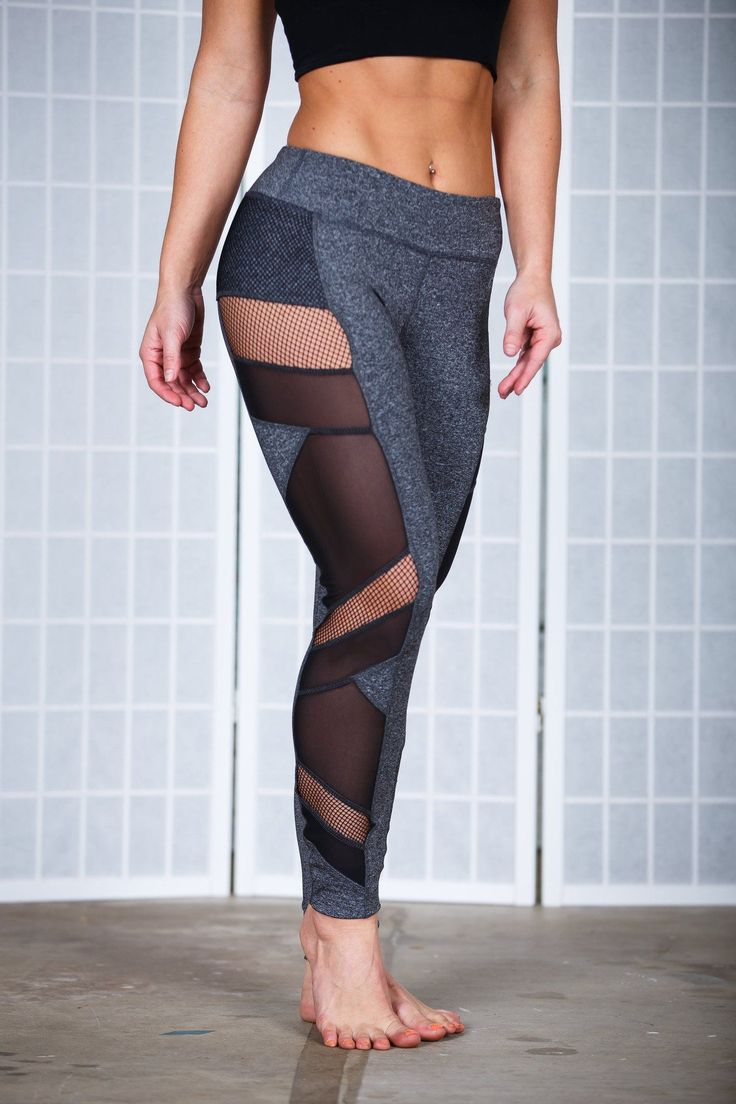 These workout pants were made for the woman who is not satisfied wearing plain gym clothes. These are made to stand out and be awesome...just like you. With mesh and fishnet cut outs, you will be anyt #womenclothes