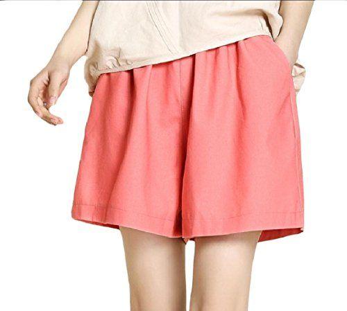 Andopa Damen plus size pur color beach wear lounge bettwäsche hot pants XXX-Lar…