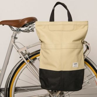 Linus Sac bike Pannier Beige & Black