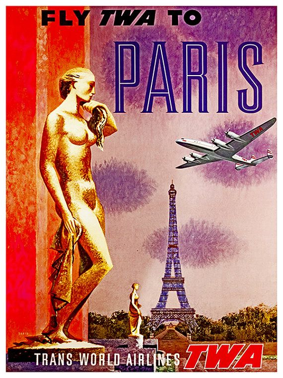 Paris Travel Poster France Art Print French by Blivingstons