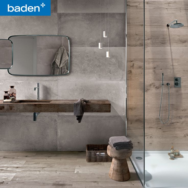XXL tegels geven uw badkamer een ruimtelijk gevoel! Prachtig in combinatie met tegels in houtlook.
