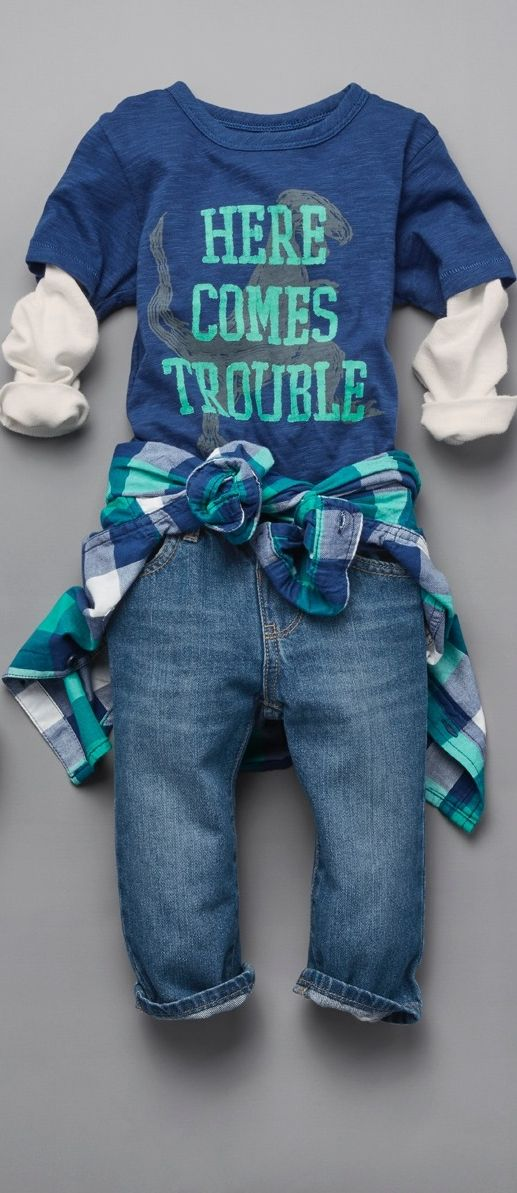 """Here comes trouble"" 