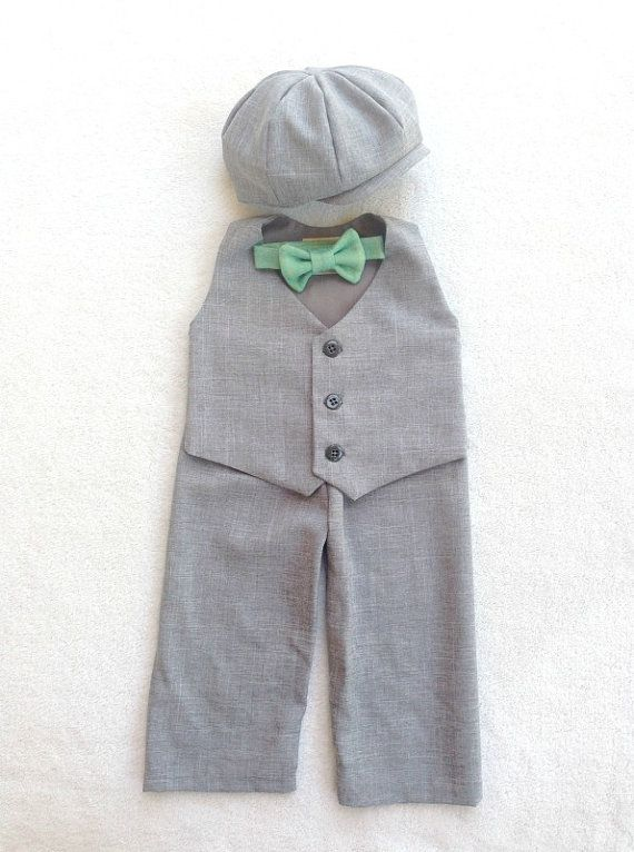 Baby Boy Suit Ring Bearer Suit Baby Ring by fourtinycousins