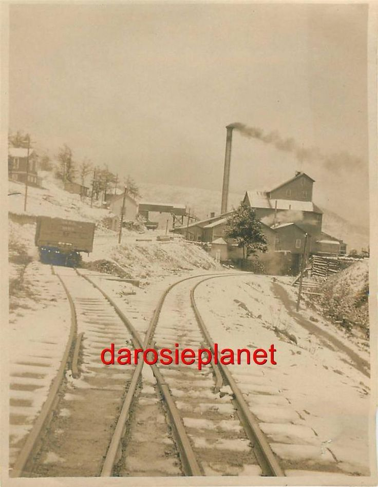 c1907 CRIPPLE CREEK original photo AJAX MINE Mill D. & R.G. RR CAR SNOW Colorado