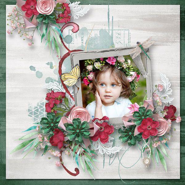 """Emerald Dreams"" - Collection by Alexis Design Studio  http://www.thedigichick.com/shop/Emerald-Dreams-Collection.html  save 59%  photo Evgenia Kozhevnikova use with permission"
