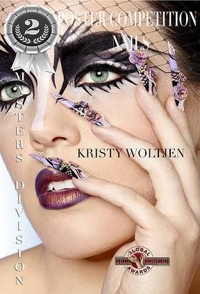 Makeup I did for a nail art competition. Amazing nails by Kristy Woltjen and Photography by Chris Huzzard. So happy for Kristy getting 2nd place for her amazing 3D stiletto nails!