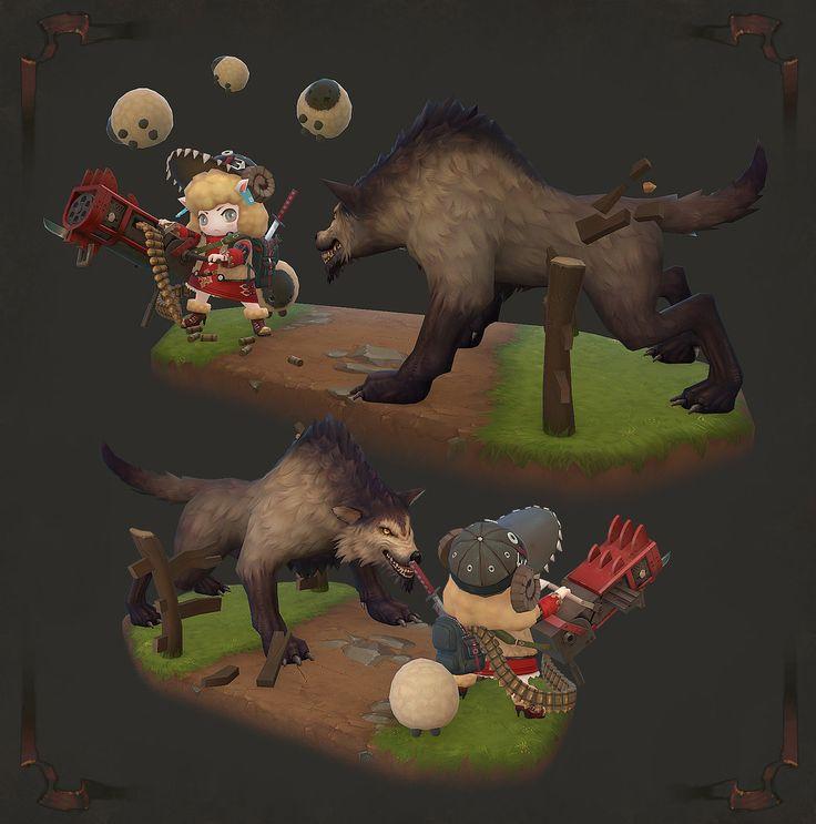 ArtStation - Sheep king VS Mad woulf, Jeong hyun Kim