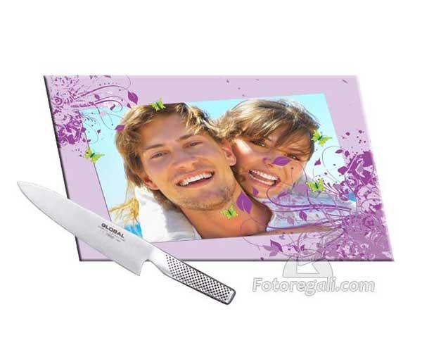 Tagliere in vetro temperato con foto