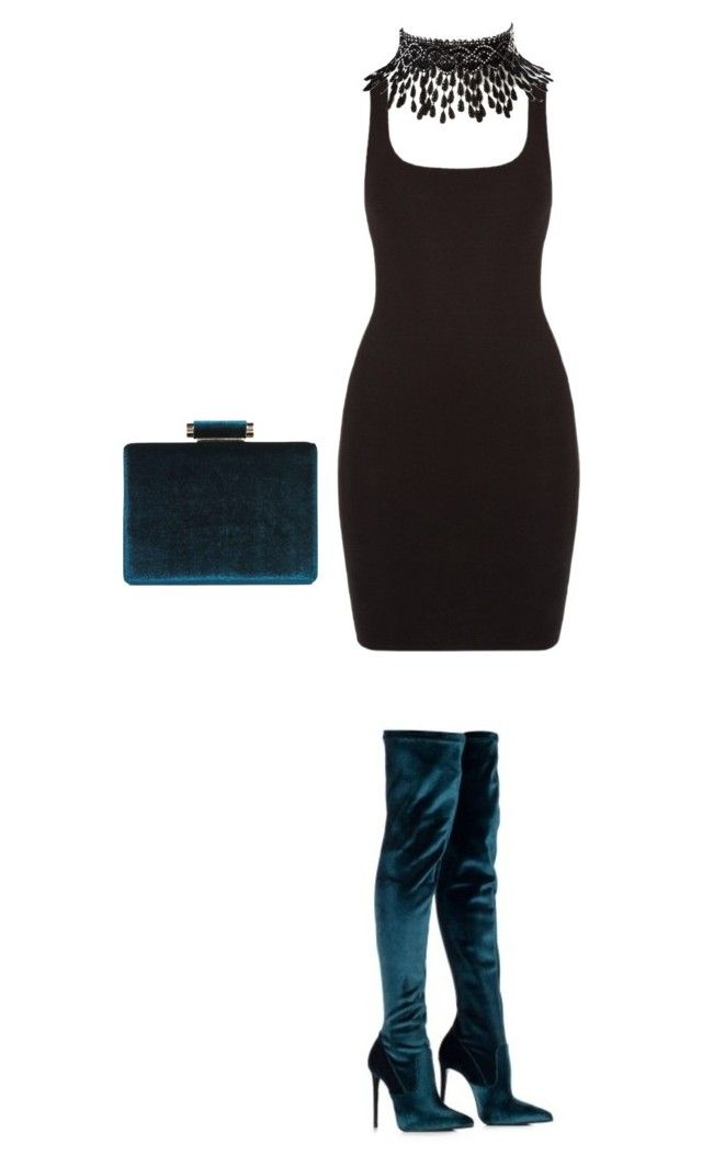 """""""Untitled #206"""" by abarzani-1 ❤ liked on Polyvore featuring Le Silla, Boohoo and Amrita Singh"""