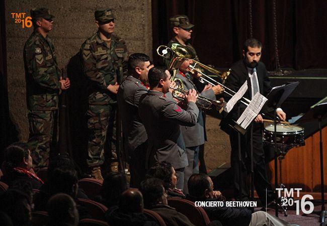 Participación de la Banda Instrumental del Destacamento de Montaña N°8 Tucapel, Concierto Beethoven, Batalla de Wellington.