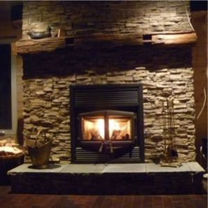 Zero Clearance Wood-Burning Fireplace | ... Stratford high efficiency EPA zero-clearance fireplace installed