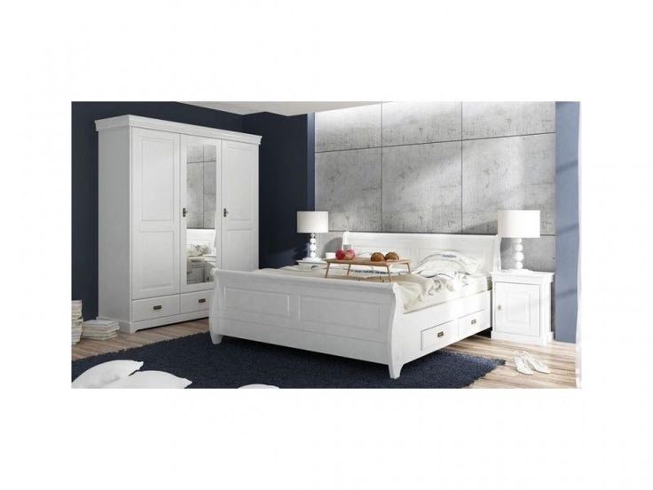 Ložnice Toskania 4D, bílá, TAHOMA , masiv, borovice