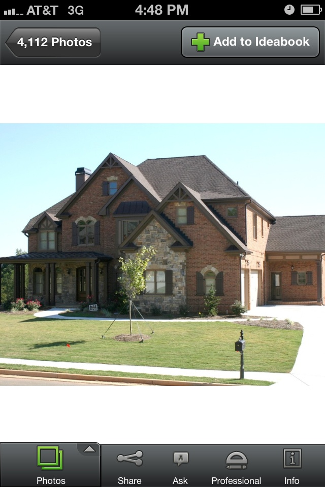 15 best images about house exterior ideas on pinterest for Mixing brick and stone exterior