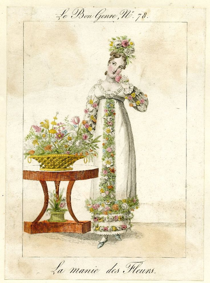 Image gallery: Le Bon Genre / La manie des fleurs  'Bibliographie de France' of 29 April 1815