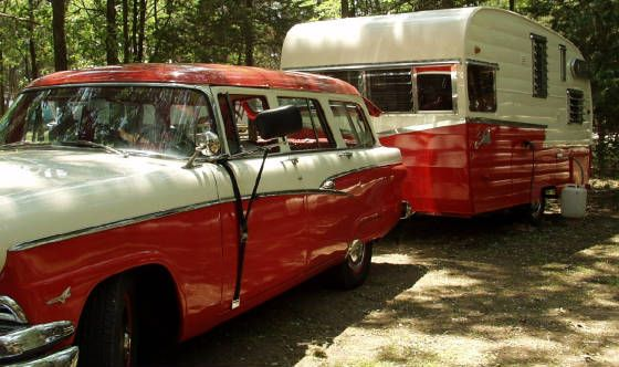 Vintage cars and trailers