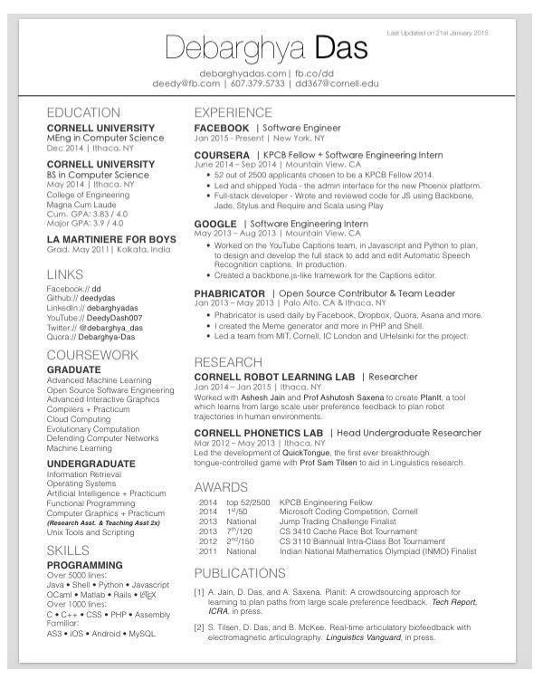 Best 25+ Latex resume template ideas on Pinterest Latex letter - undergraduate resume template
