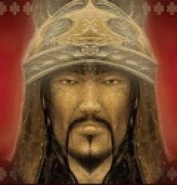 GENGHIS KHAN  1162-1227 .Originally known as Temüjin of the Borjigin, Genghis was born holding a clot of blood in his hand. His father was khan of a small tribe, but he was murdered when Temüjin was still very young. The new tribal leader wanted nothing to do with Temüjin's family, so with his mother and five other children, Temüjin was cast out and left to die.