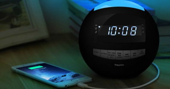 Always running late? Snag this 8-in-1 Bluetooth Alarm Clock Radio from Amazon for a great price!