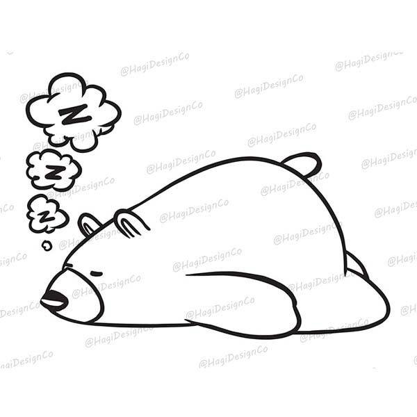 Polar Bear Clipart Png Files Digital Clip Art Print Etsy Bear Clipart Animal Outline Clip Art